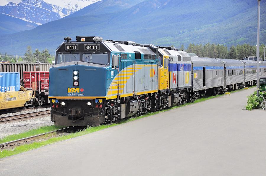 VIA Rail in Jasper, Canada.