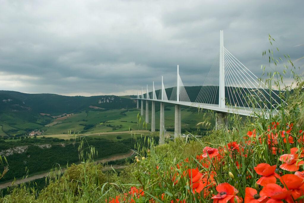 Viaduc De Millau in Creissels, France.