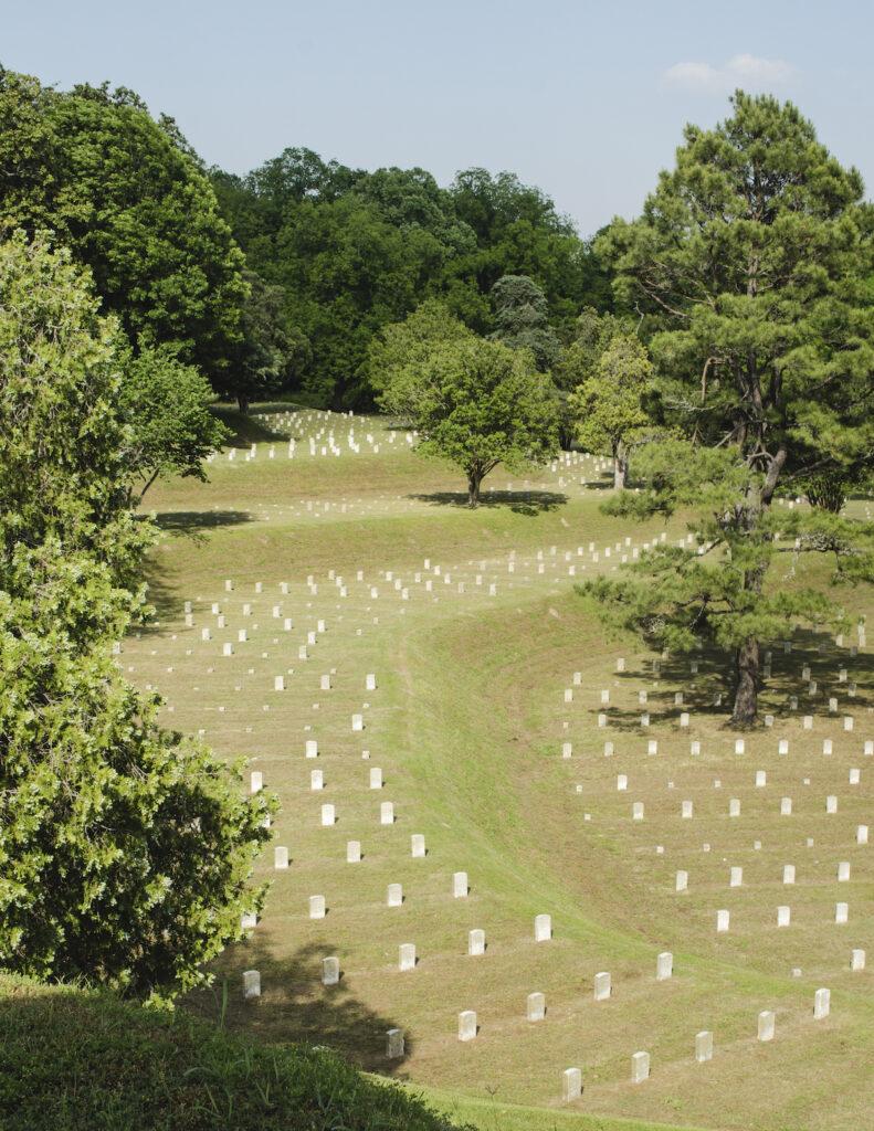 Vicksburg National Cemetery in Mississippi.