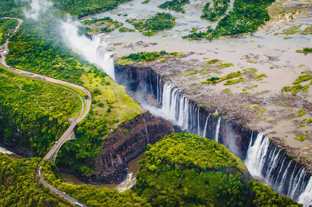 Victoria Falls in Africa.