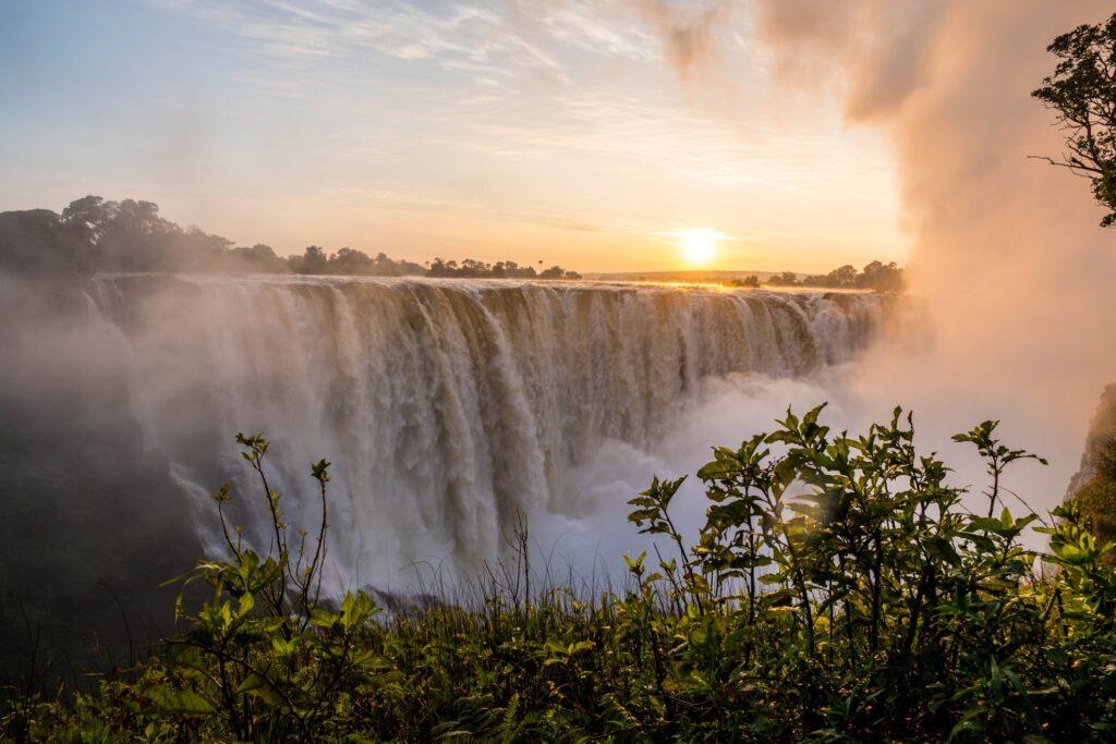 Victoria Falls in Zimbabwe.