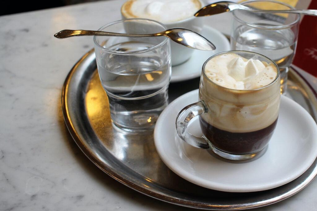 Viennese Coffee in Vienna, Austria.