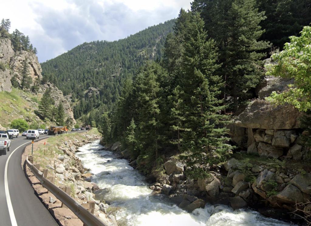 Vies along Boulder Canyon Drive in Colorado.