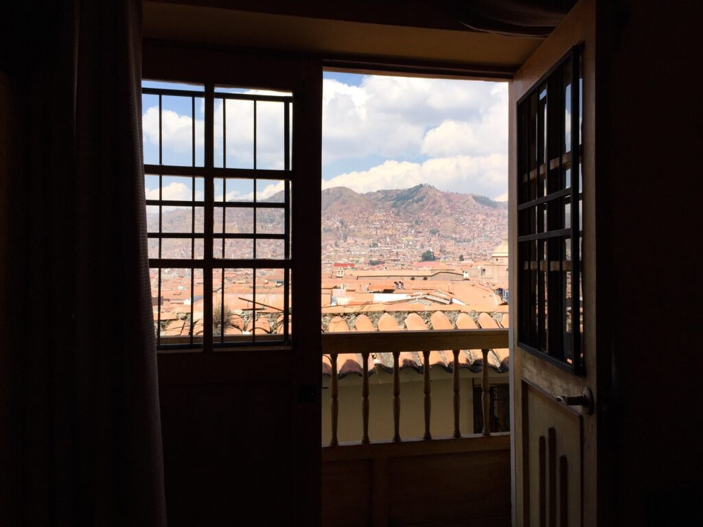 View from a window in Cuzco.