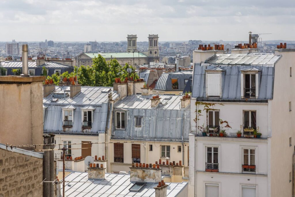 View from an Airbnb listing in Paris.