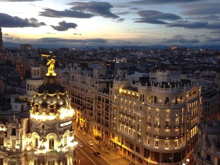 View from atop Círculo de Bellas Artes, Madrid