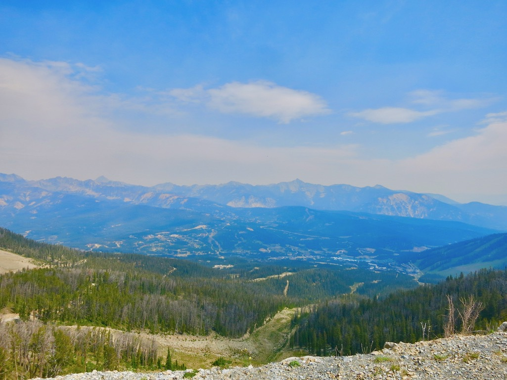 View from Beehive Basin Trail in Big Sky, Montana.