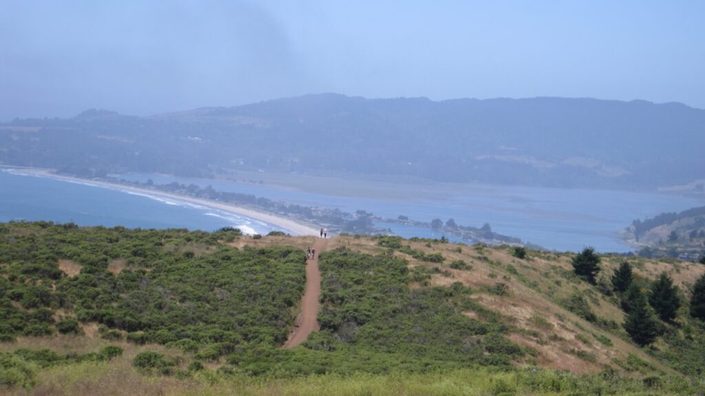 View from Dipsea Trail over Stinson Beach.