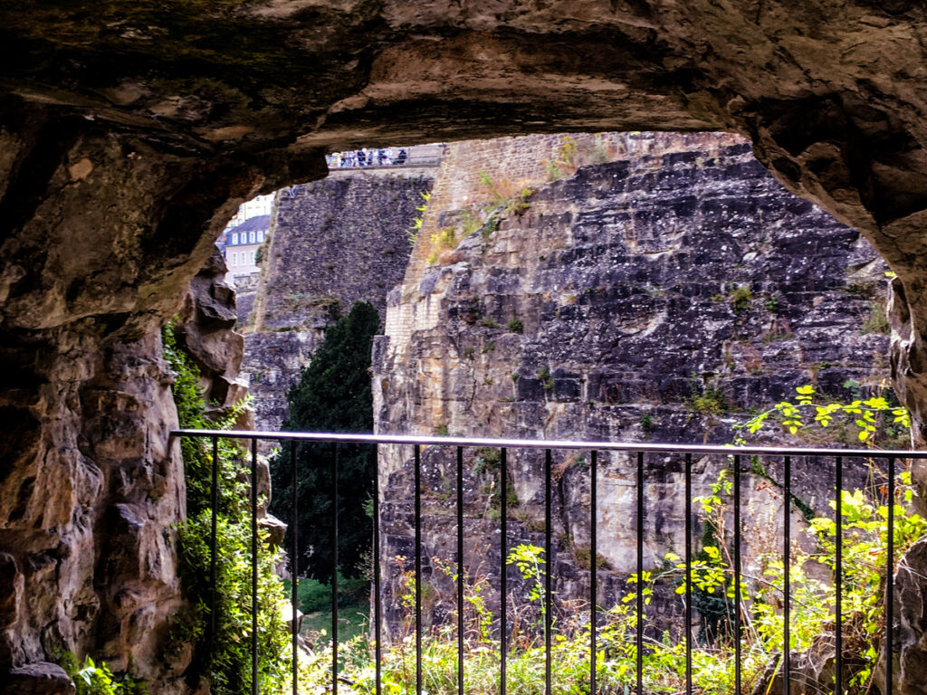 View from in the tunnels of the fortress.