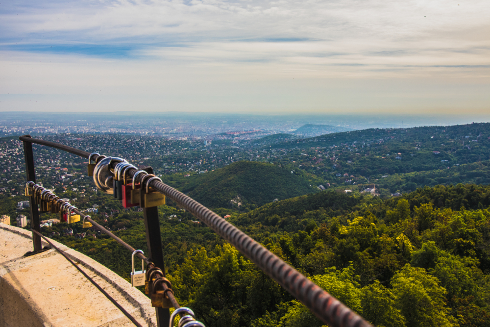 view from janos hegy in buda hills