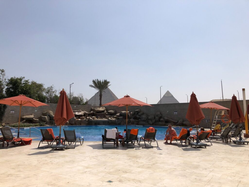 View from Le Meridien Hotel in Egypt.