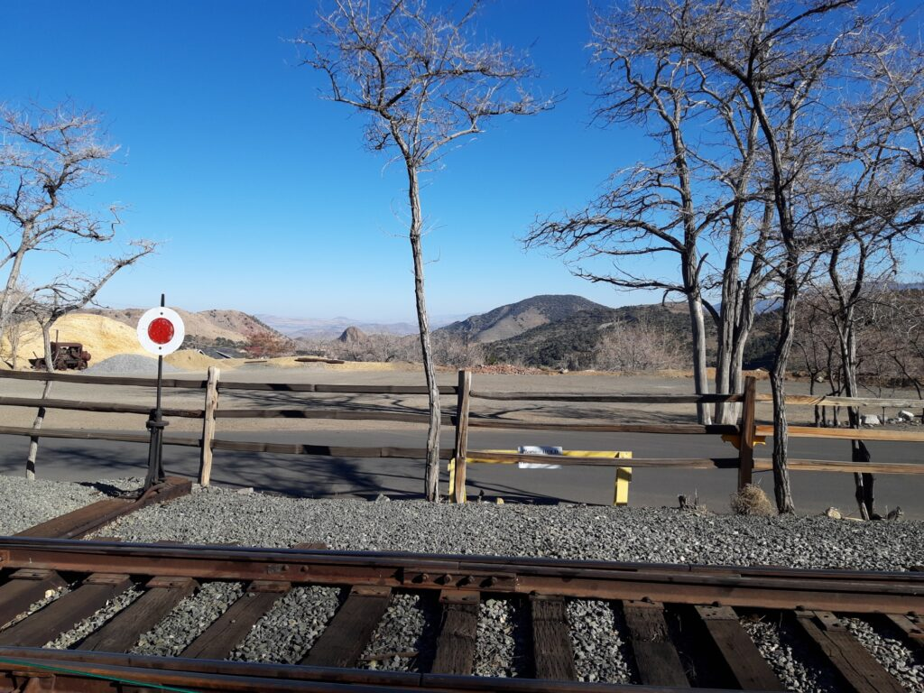 View from the Amtrak in Virginia City.