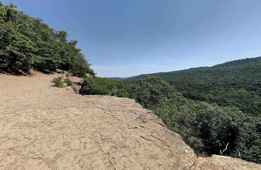 View from the overlook at the summit of Yellow Rock Trail.