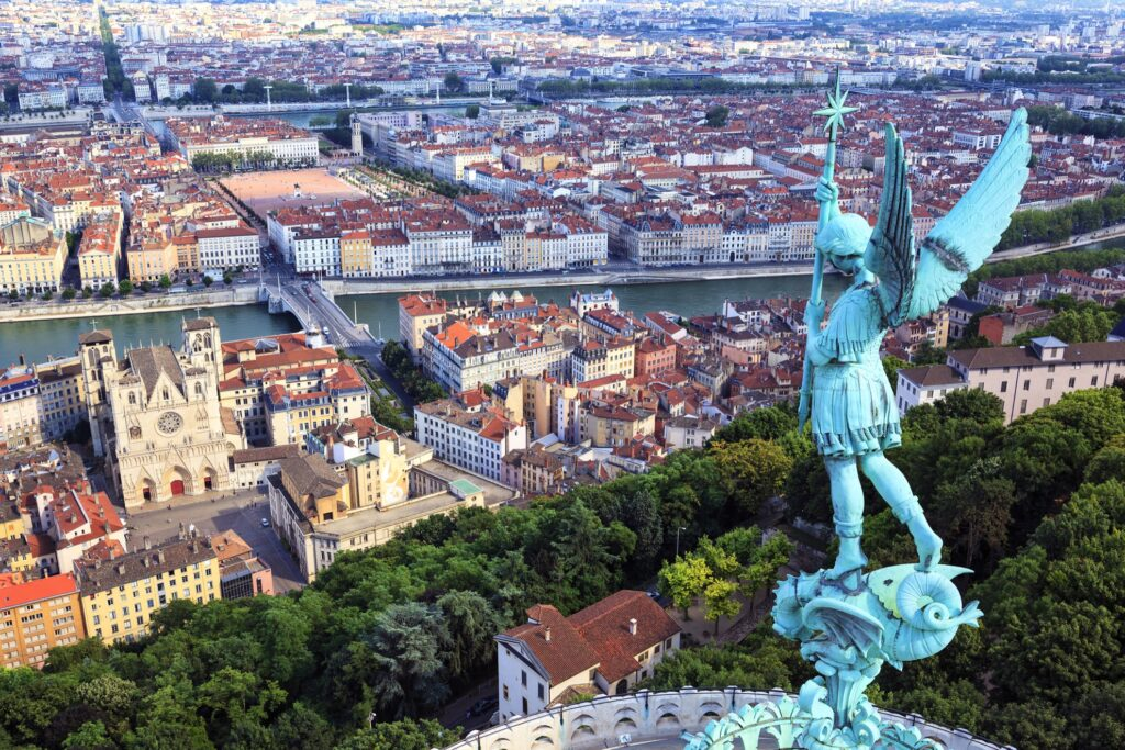 View from the top of the Basilica of Notre Dame de Fourviere.