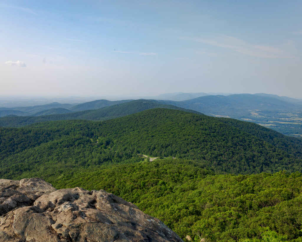 View from the top of the Humpback Rocks Trail.