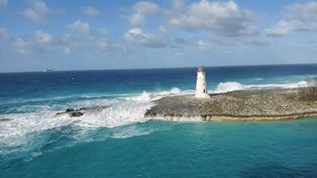 View leaving Nassau on the Carnival Magic.