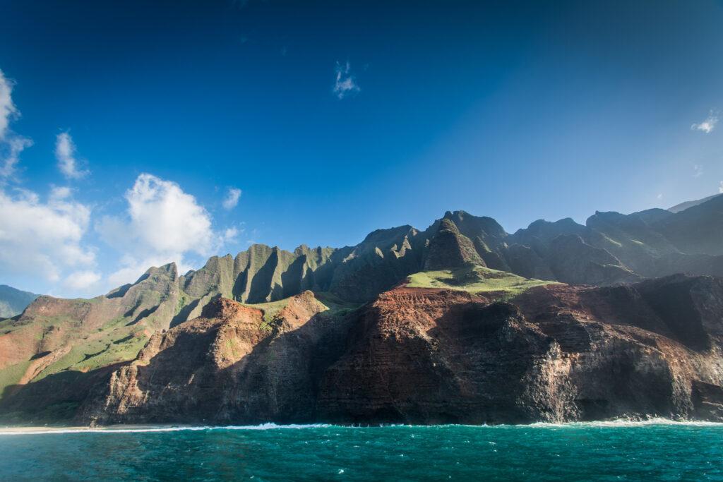 View of a Hawaiian island.
