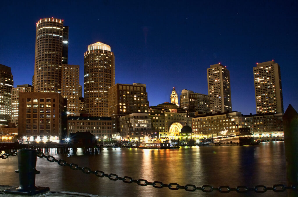 View of Boston from the river
