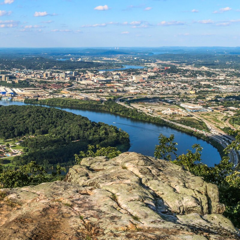 View of Chattanooga, Tennssee, from Lookout Mountain.