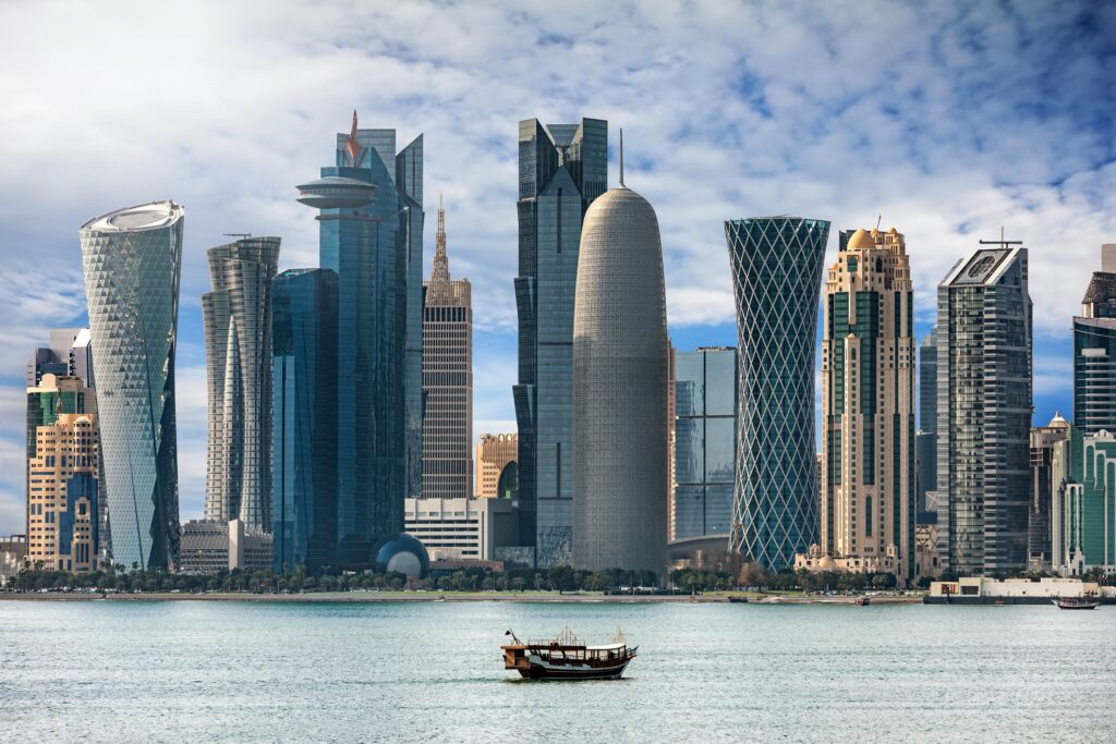 View of Doha from the bay.