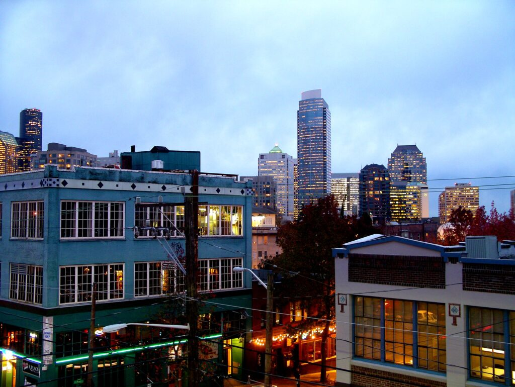 View of downtown Seattle from Capitol Hill.