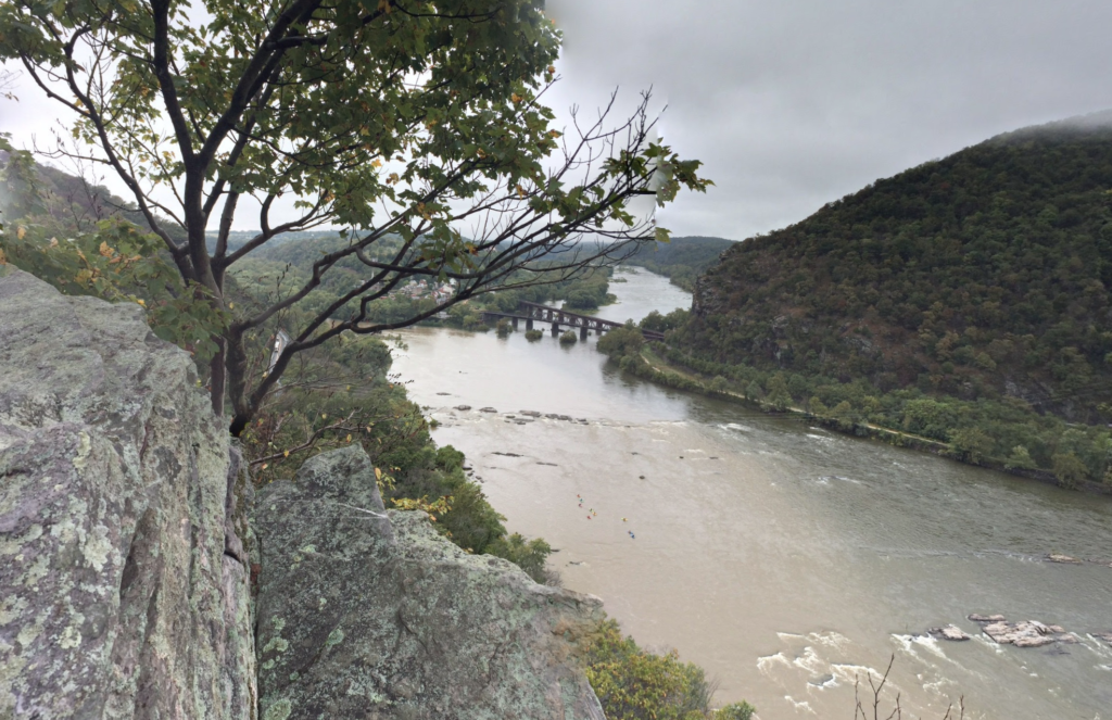 View of Harpers Ferry from Split Rock.