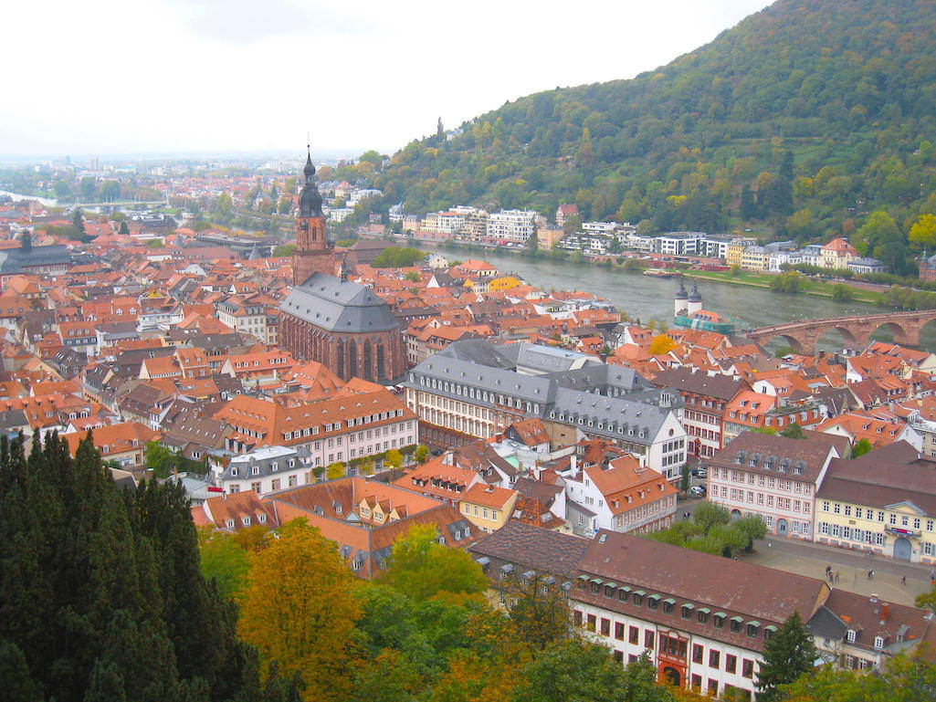 View of Heidelberg from the castle.