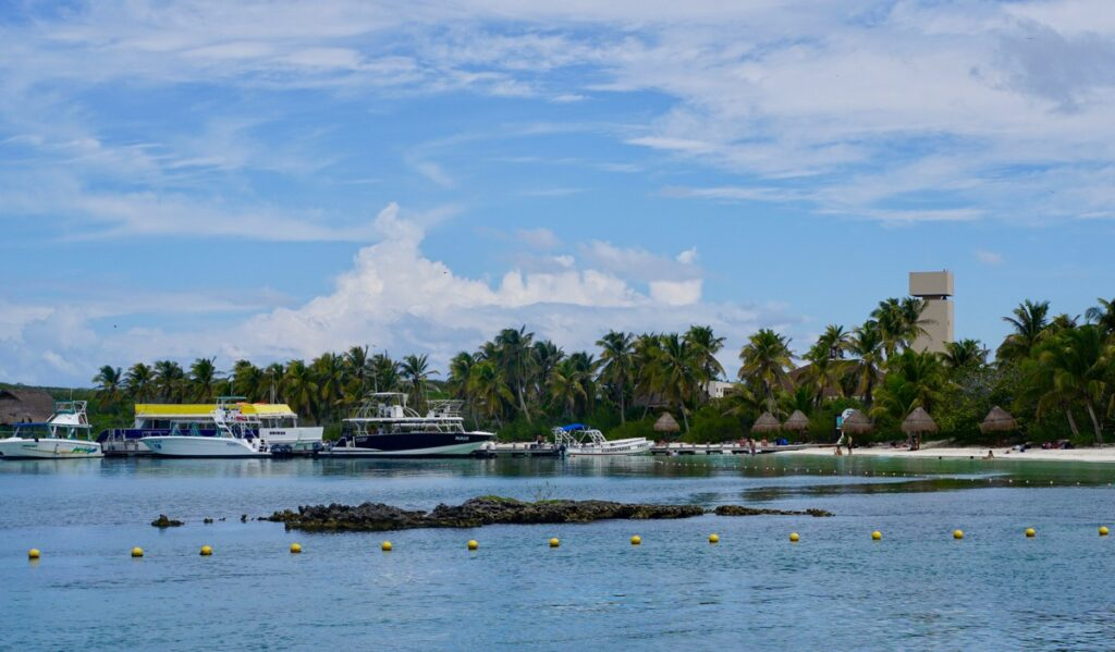 View of Isla Contoy in the Mexican Caribbean.