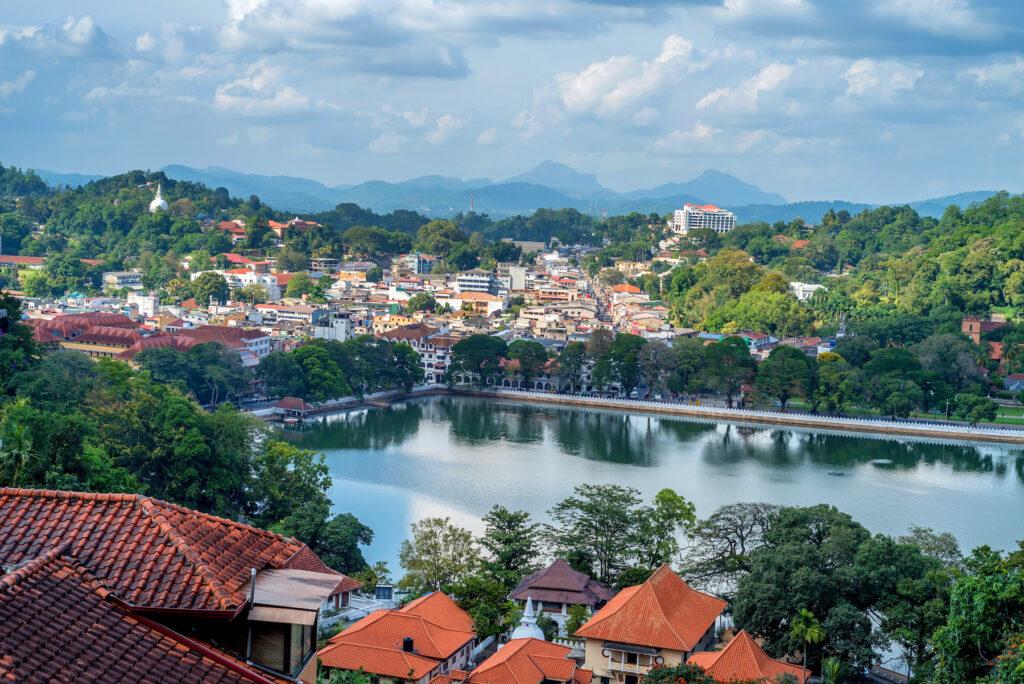 View of Kandy, Sri Lanka.