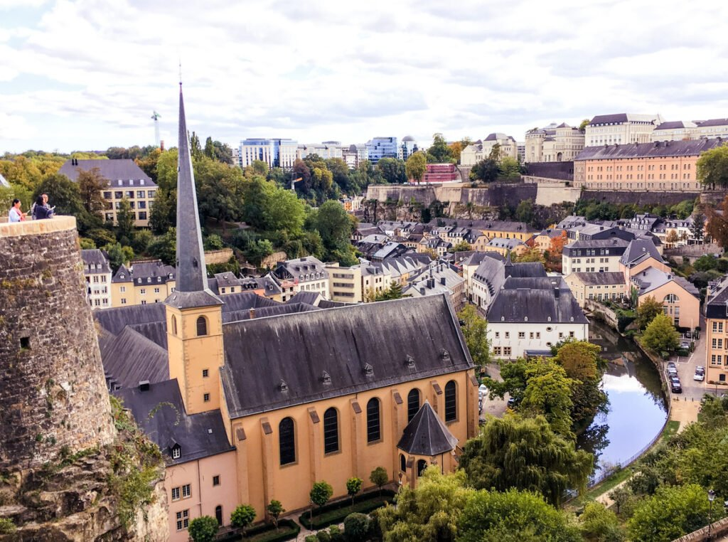 View of Luxembourg City from the fortress.