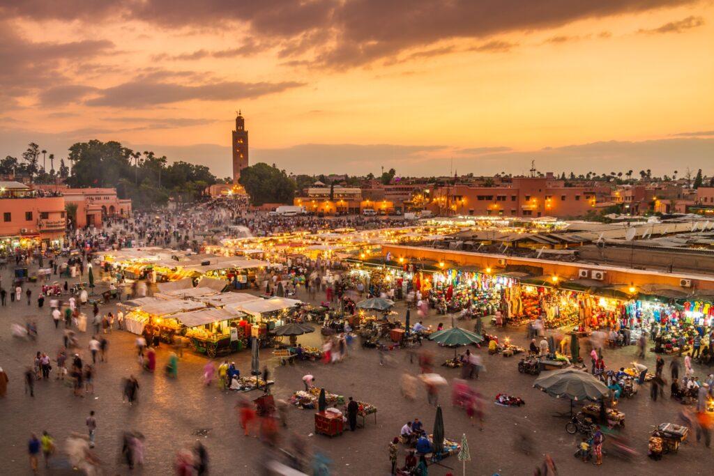 View of Marrakech, Morocco.
