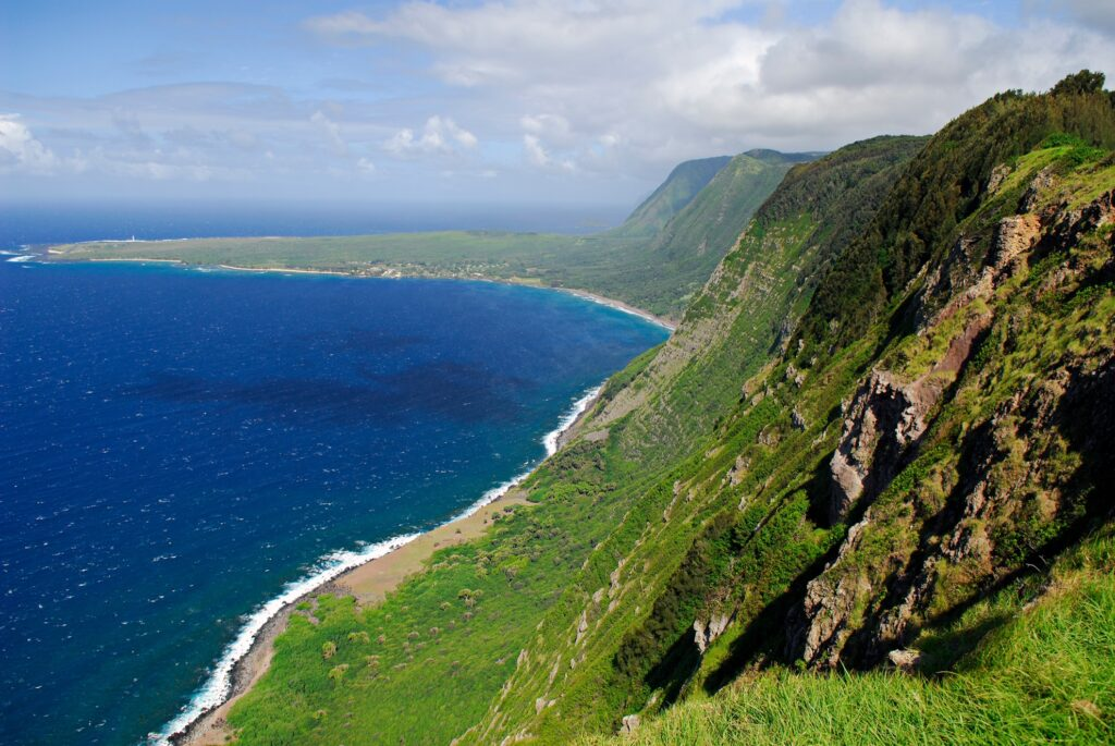 View of Molokai from Palaau State Park.