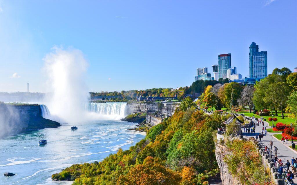 View of Niagara Falls from Canada.