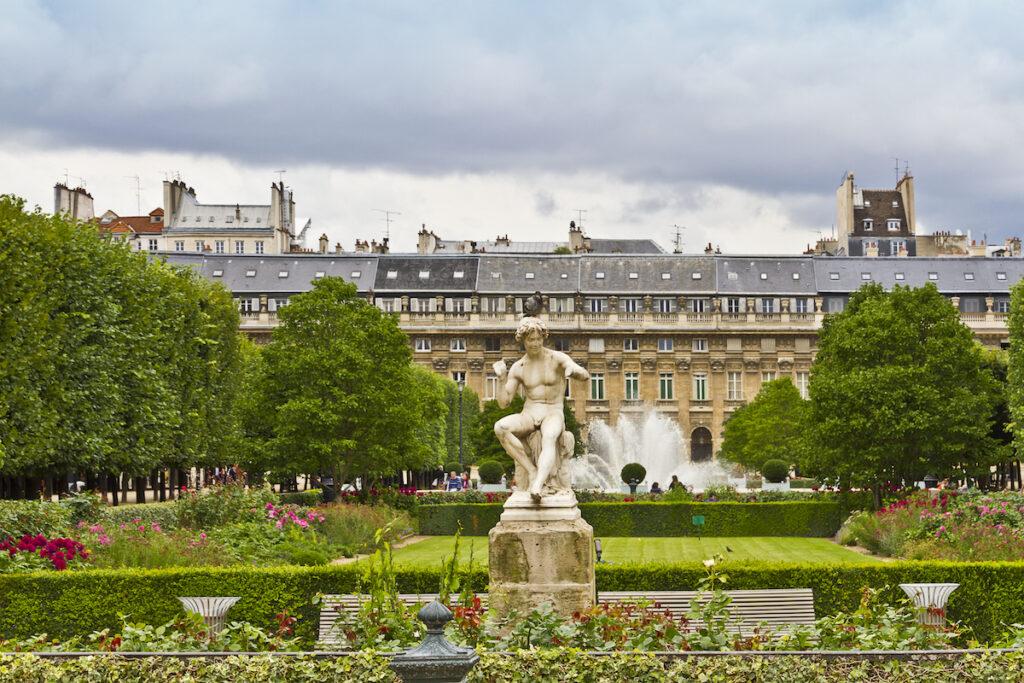 View of Palais-Royal, Paris, France.