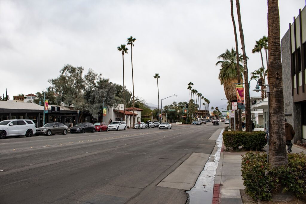 View of Palm Canyon Drive.