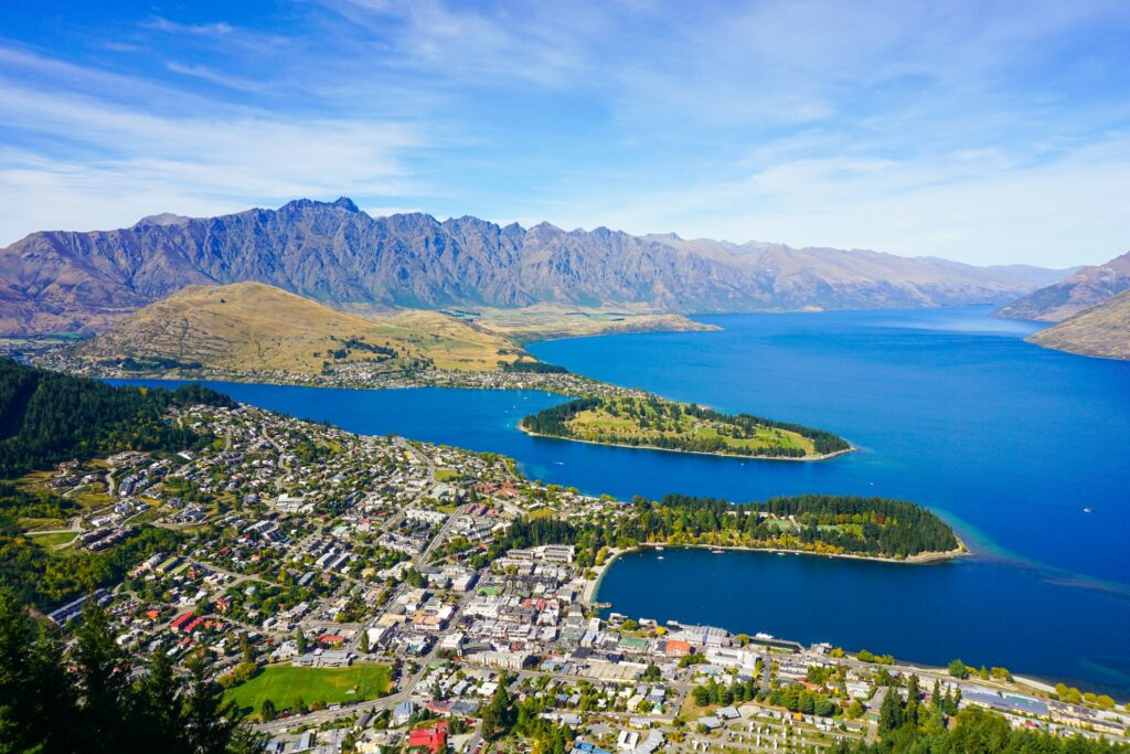 View of Queenstown from the gondola.