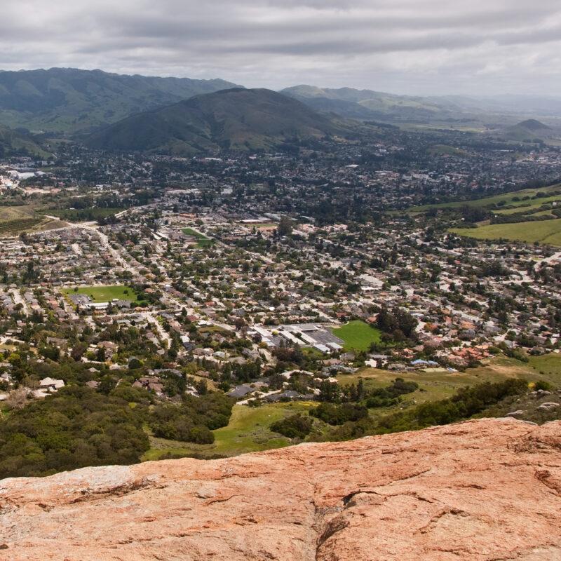 View of San Luis Obispo from Bishop Peak.