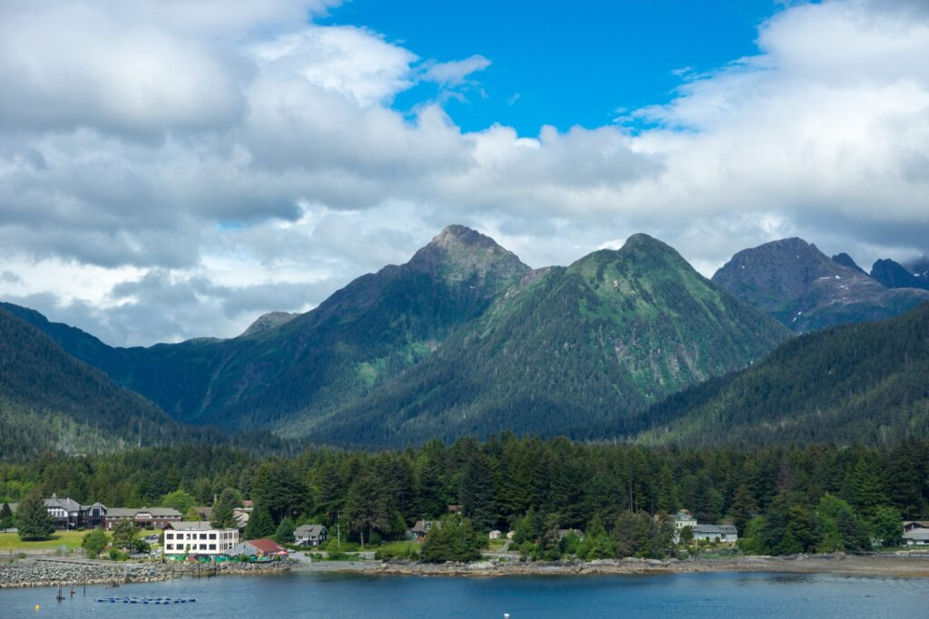 View of Sitka, Alaska.