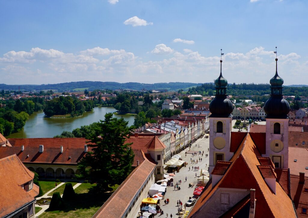 View of Telc from the Gothic Tower.