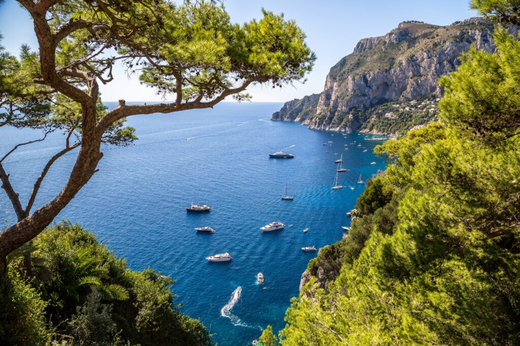View of the cost of Capri, Italy