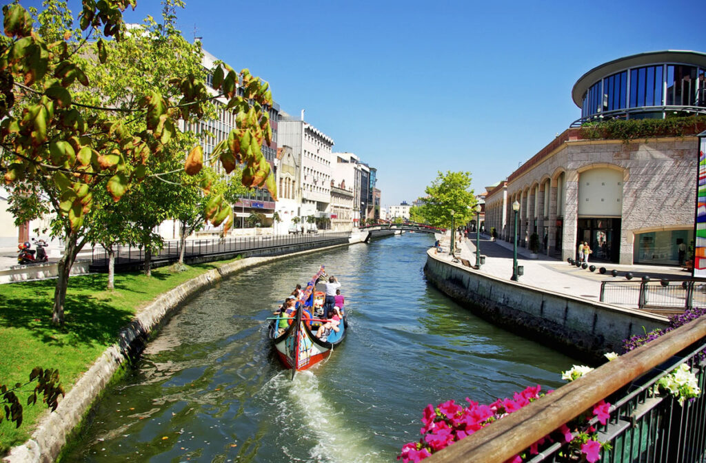 View of the Grand Canal near the Hotel das Salinas.