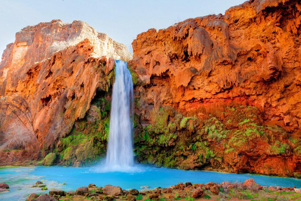 View of the Havasu Falls in Arizona