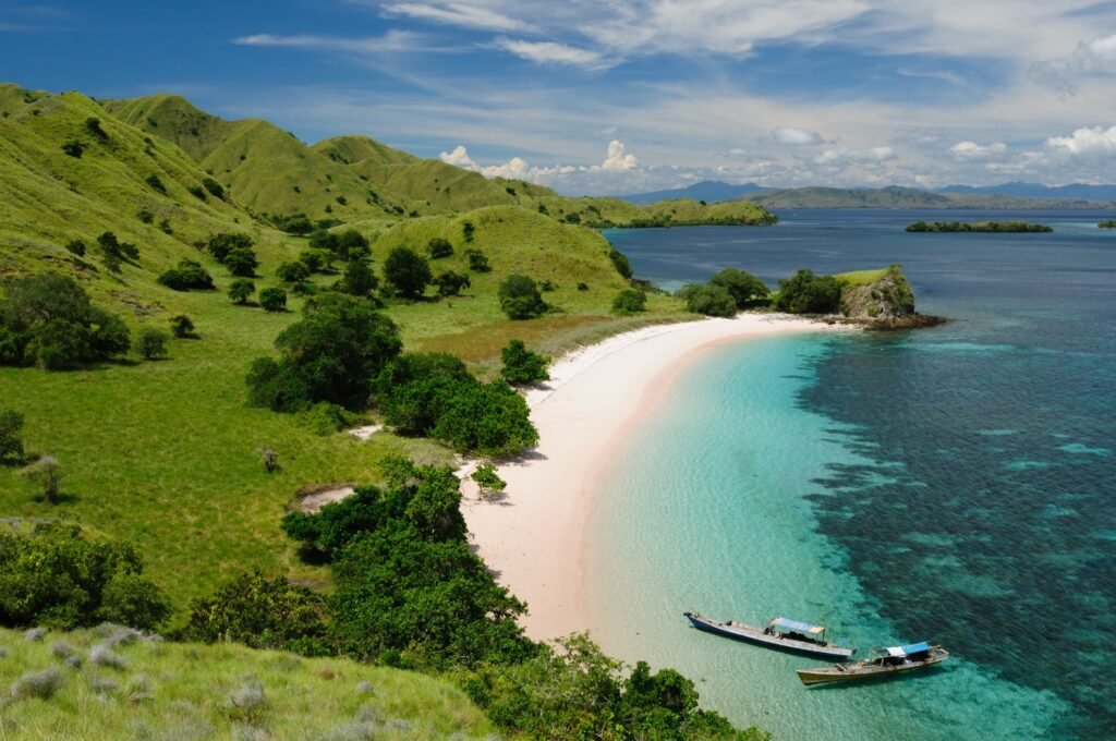 View of the islands of Komodo National Park.