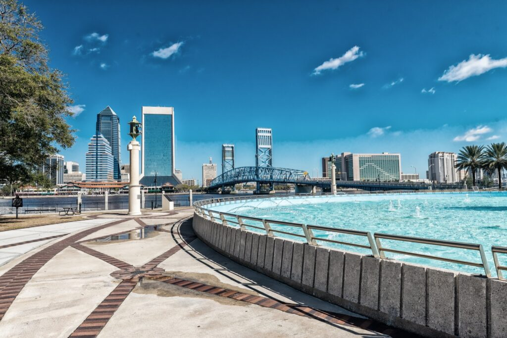 View of the Jacksonville skyline.