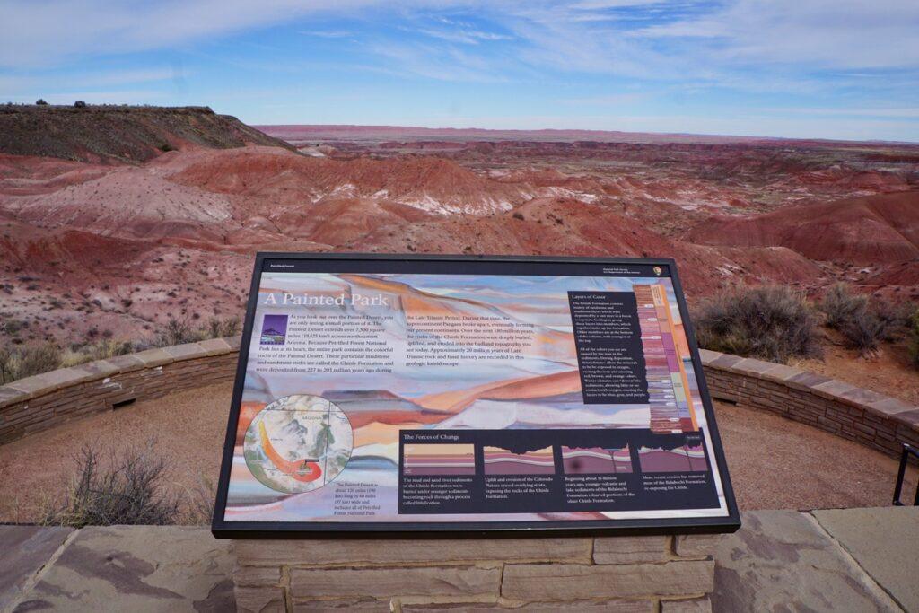 View of the Painted Desert in Arizona.