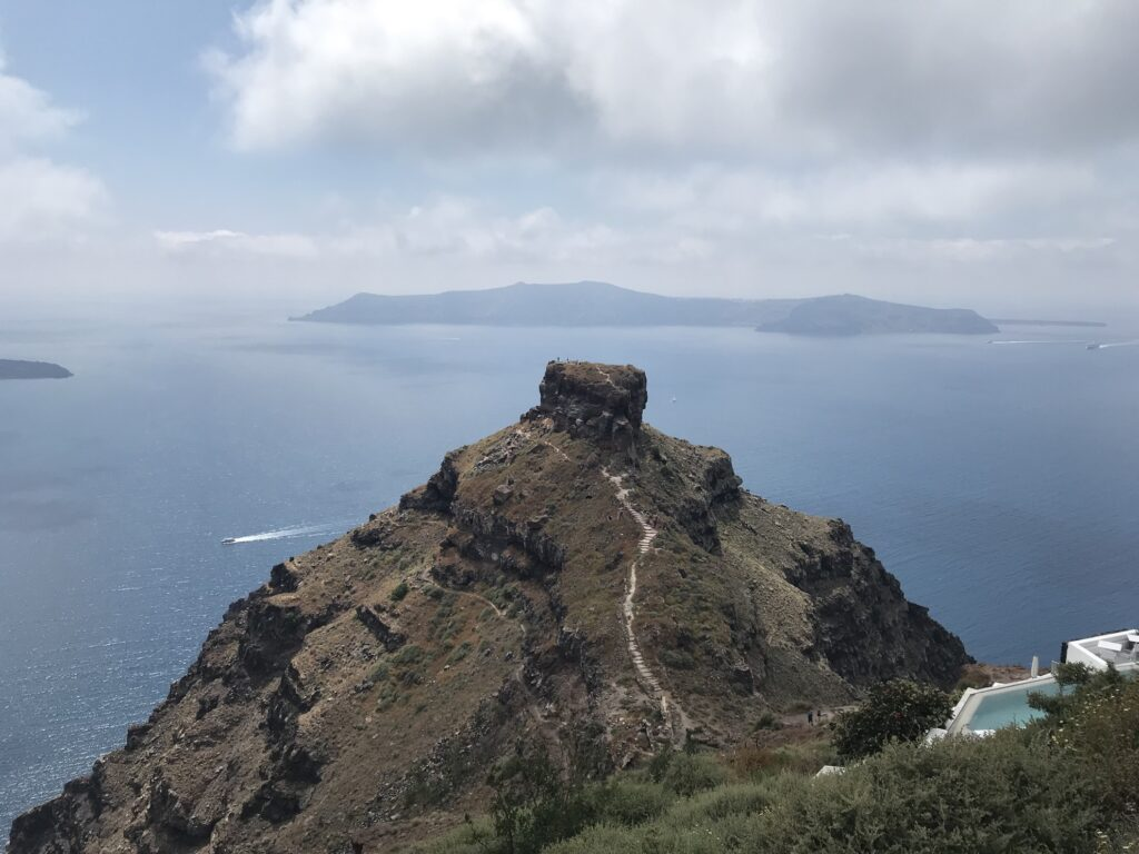 View of the sea from Skaros Rock.