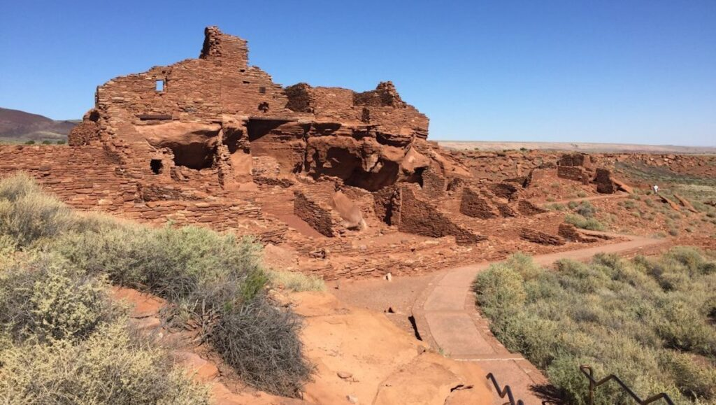 View of the Tall House at Wupatki National Monument.