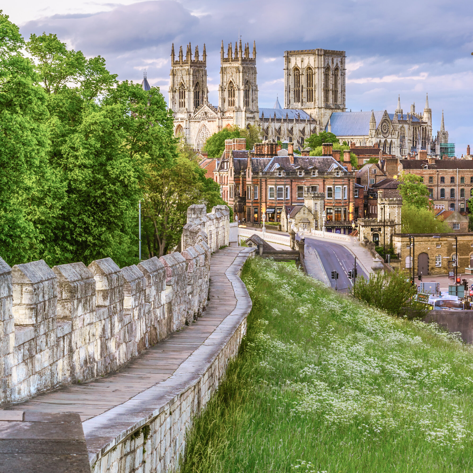 View of the York skyline from the Medieval Wall.