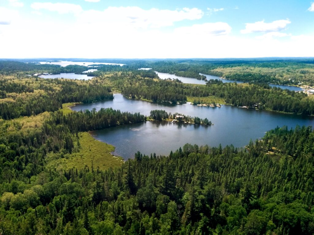 View over Lake Temagami in Ontario, Canada.