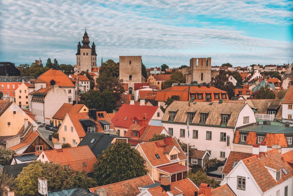 View over the medieval city of Visby.